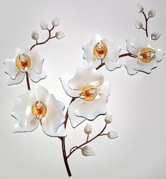 Orchidee weiss 48 cm
